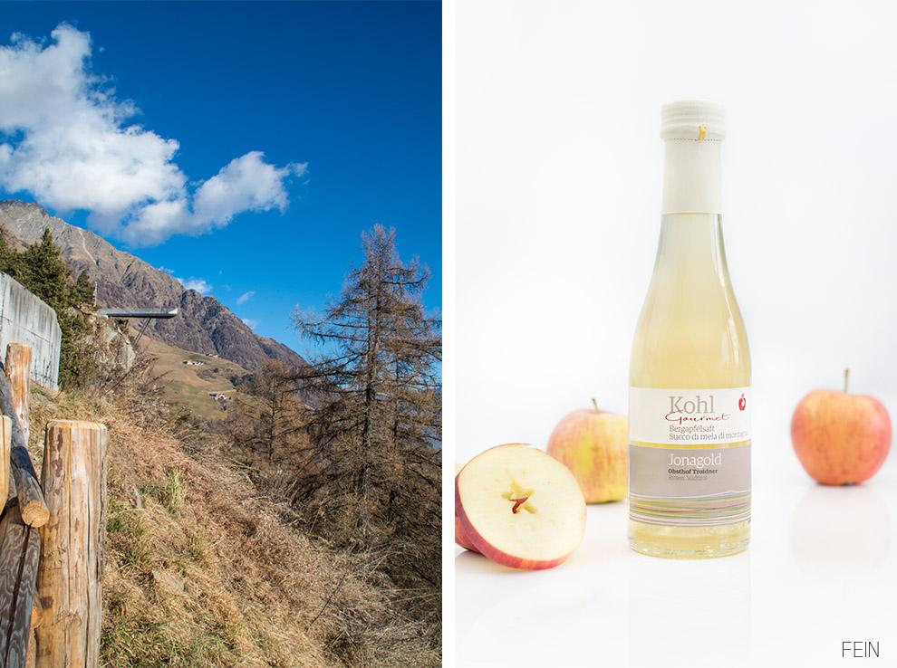 Apfelsaft Südtirol Berge