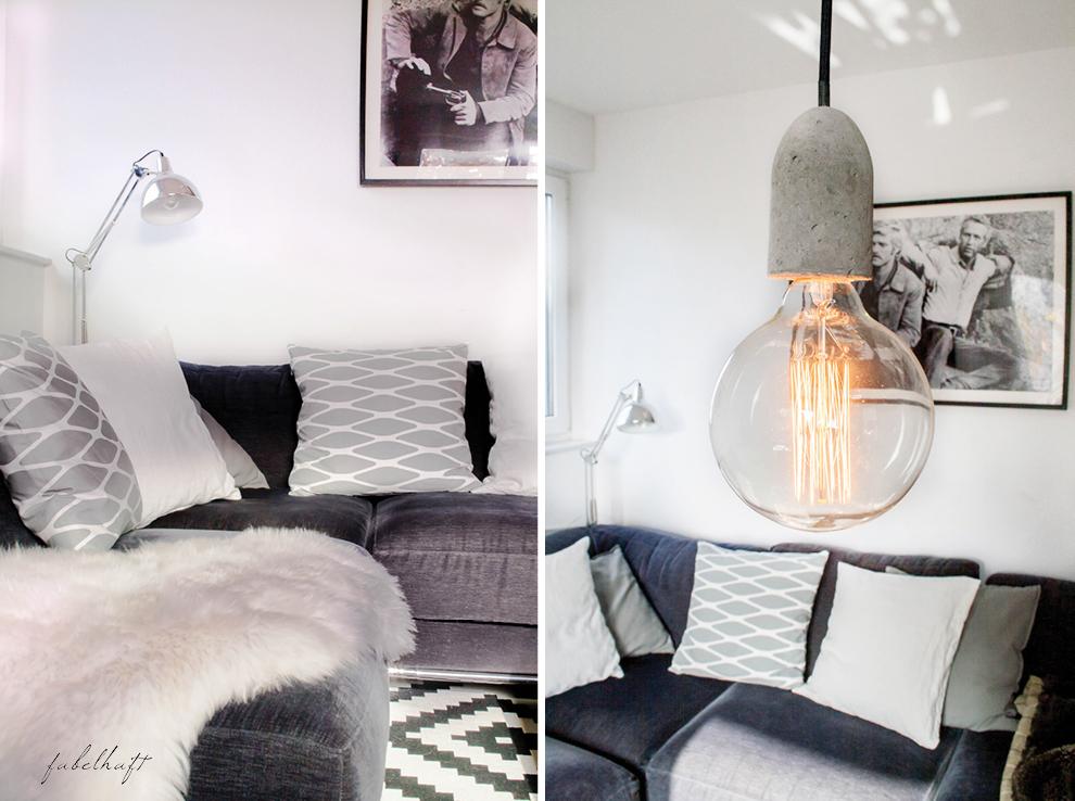 Edison Squirrel Cage Lamp Concrete Betonfassung1