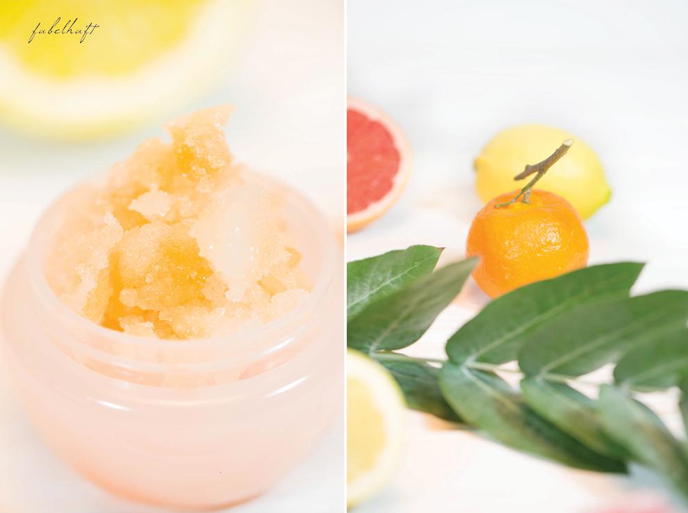 Mandarine Zitrone Grapefruit Peeling Homemade