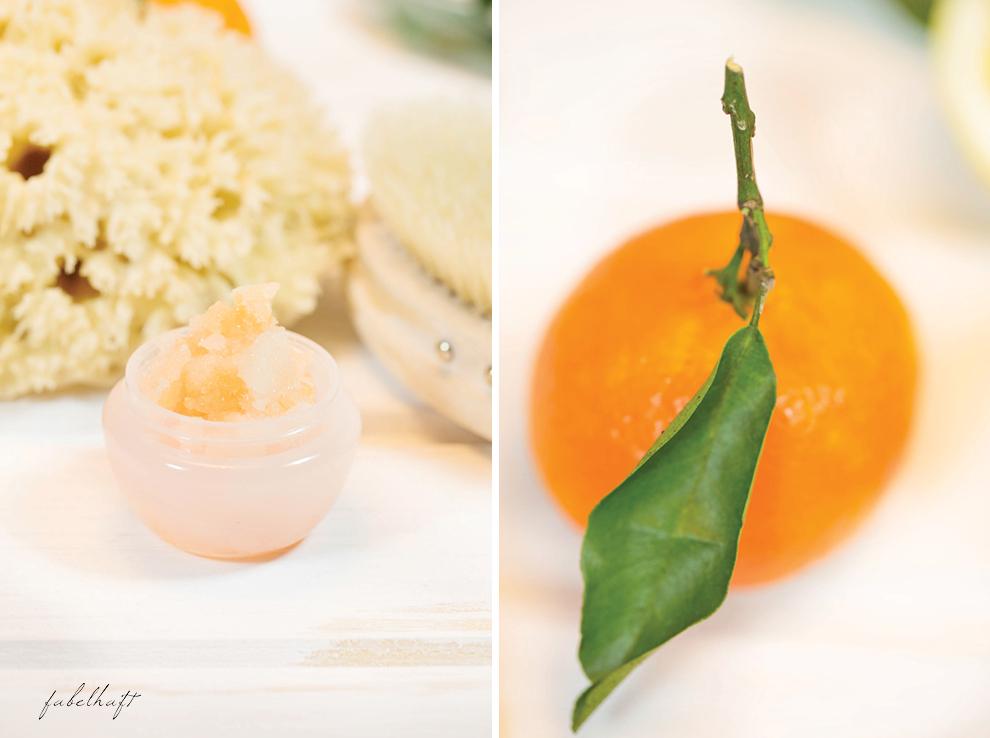 Zuckerpeeling selbstgemachgt Mandarine Zitruspeeling