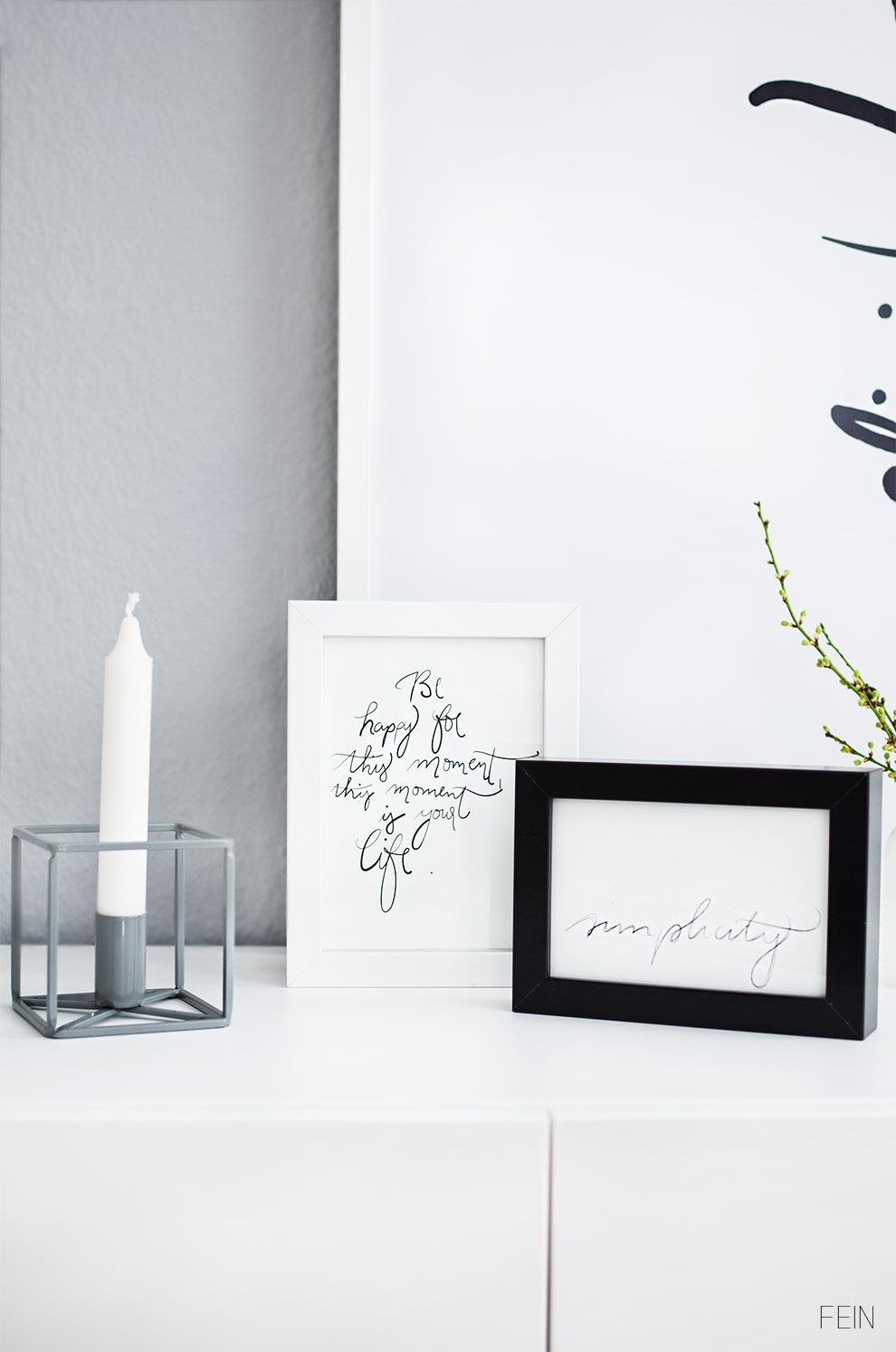 Stilherz Hübsch Interior Kerzenhalter Handlettering