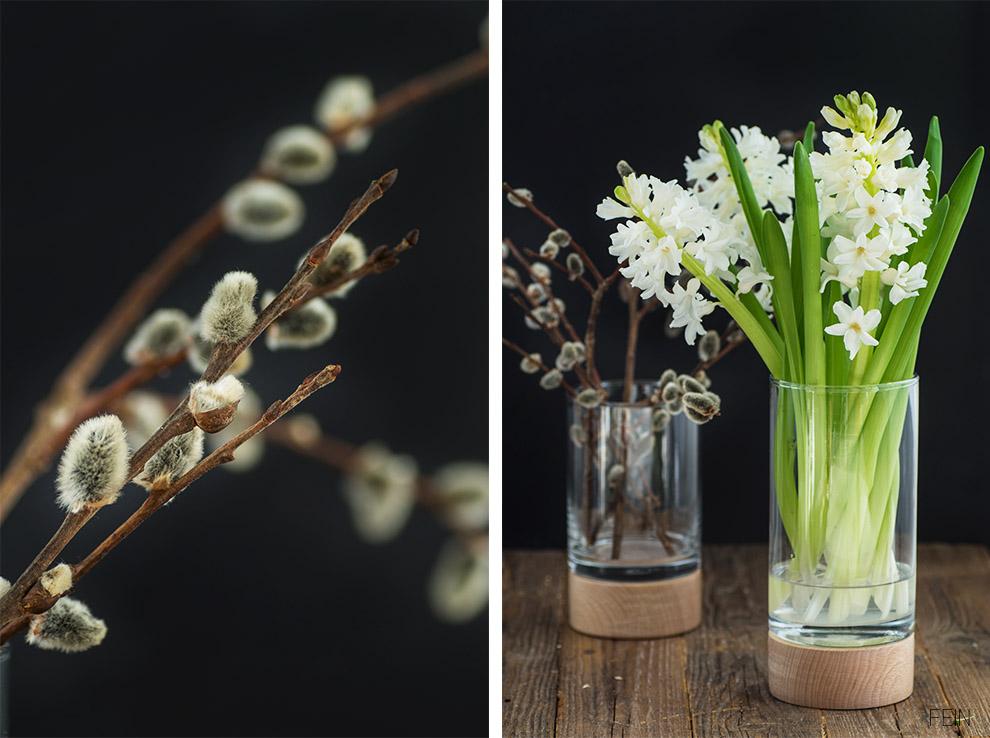 Vegan GutDing Vase Holz Palmzweige