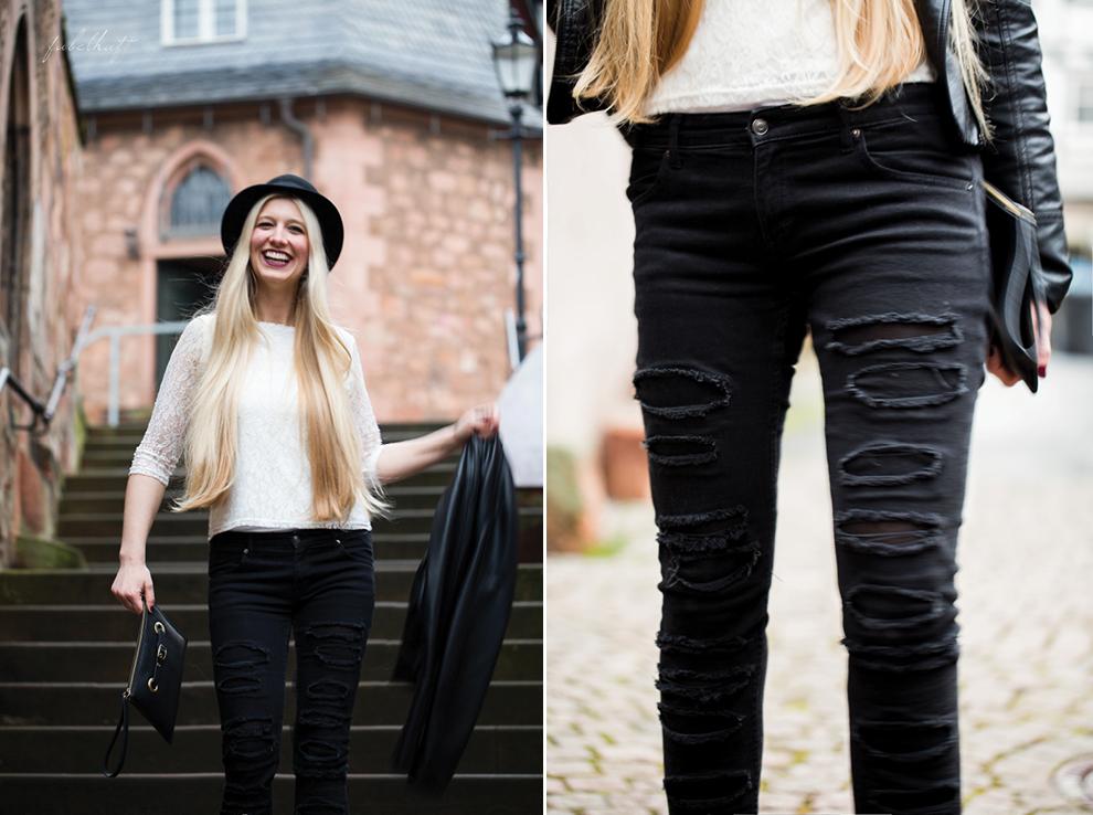 Grunge Punkt Black Leder leather Hut hat Black&white Clutch Streetstyle Trend 2016 Urban 4