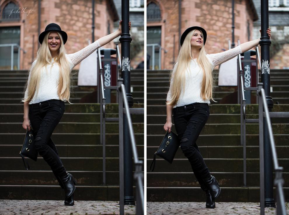 Grunge Punkt Black Leder leather Hut hat Black&white Clutch Streetstyle Trend 2016 Urban 5