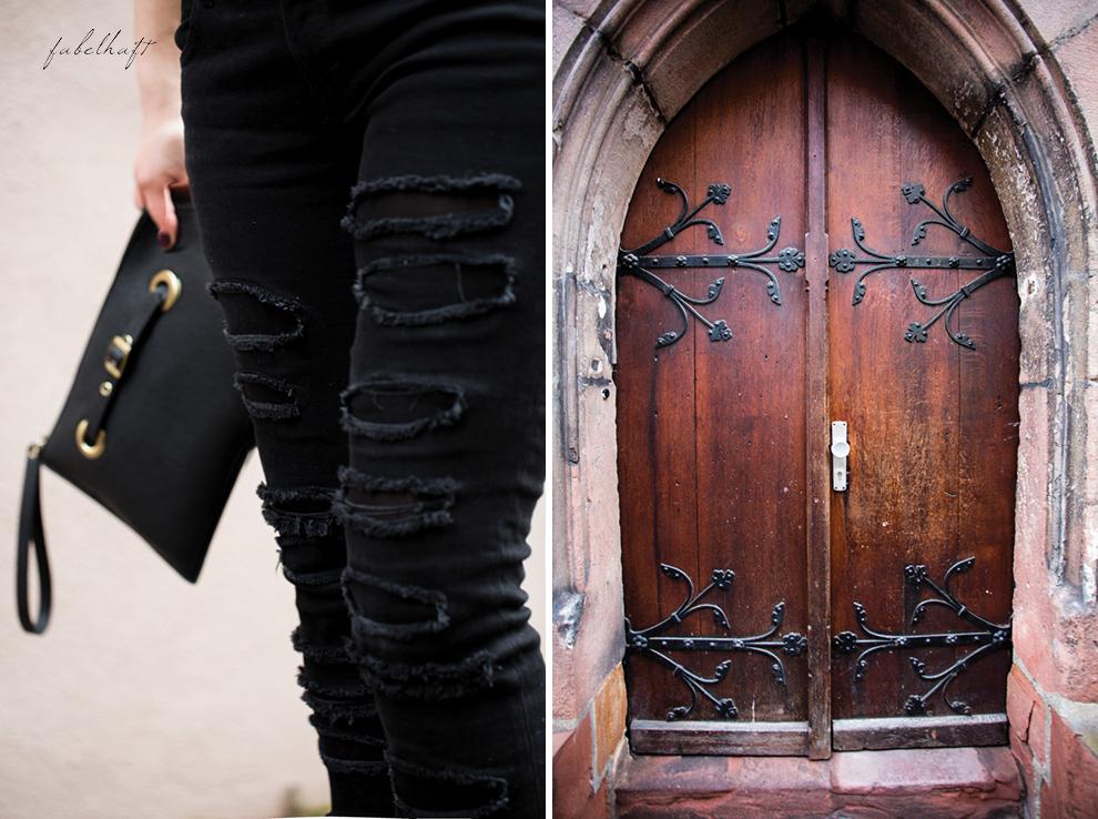Grunge Punkt Black Leder leather Hut hat Black&white Clutch Streetstyle Trend 2016 Urban 6