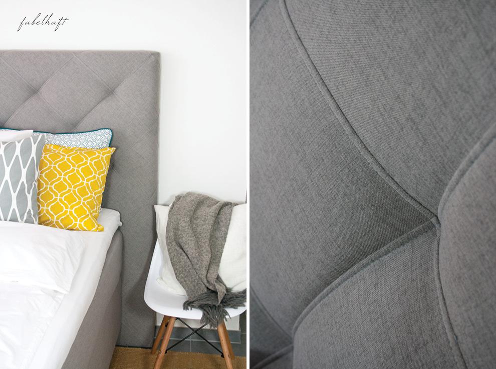 Hometour Schlafzimmer Interiour Boxspring Bett Grey Decoration Style Home Einrichtung Blogger Kissen Bedroom Lifestyle 2