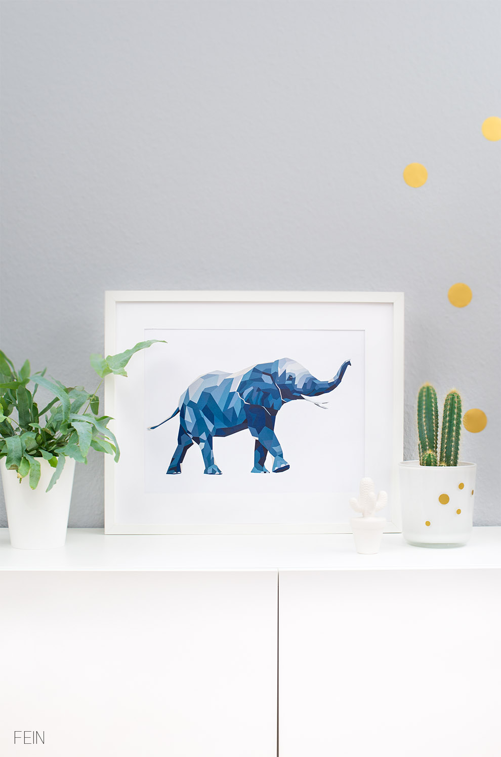 Interiortrend Geometrie Elefant