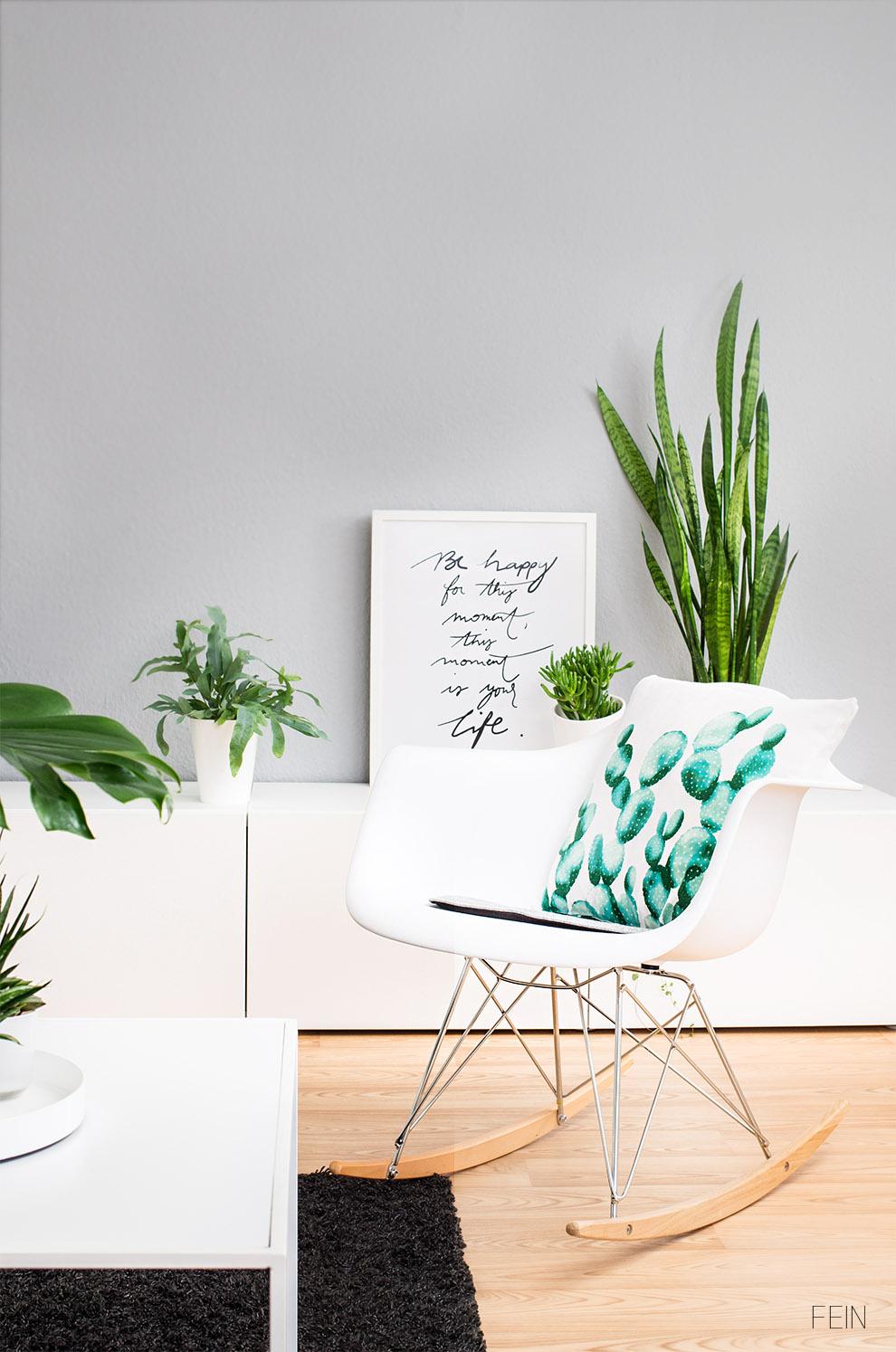 Interiortrend Zimmerpflanzen Eames Stuhl