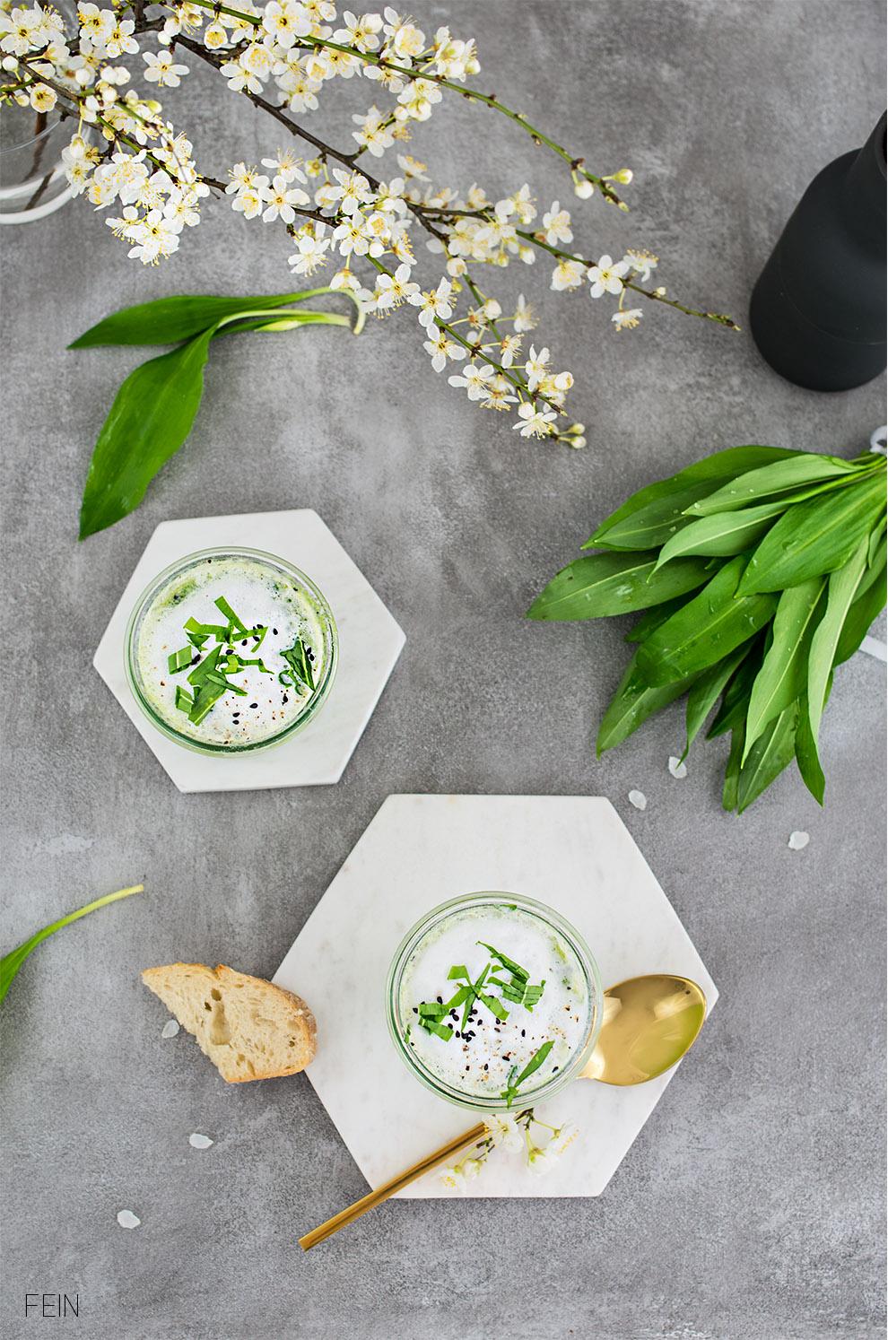 Marmor Suppe grün