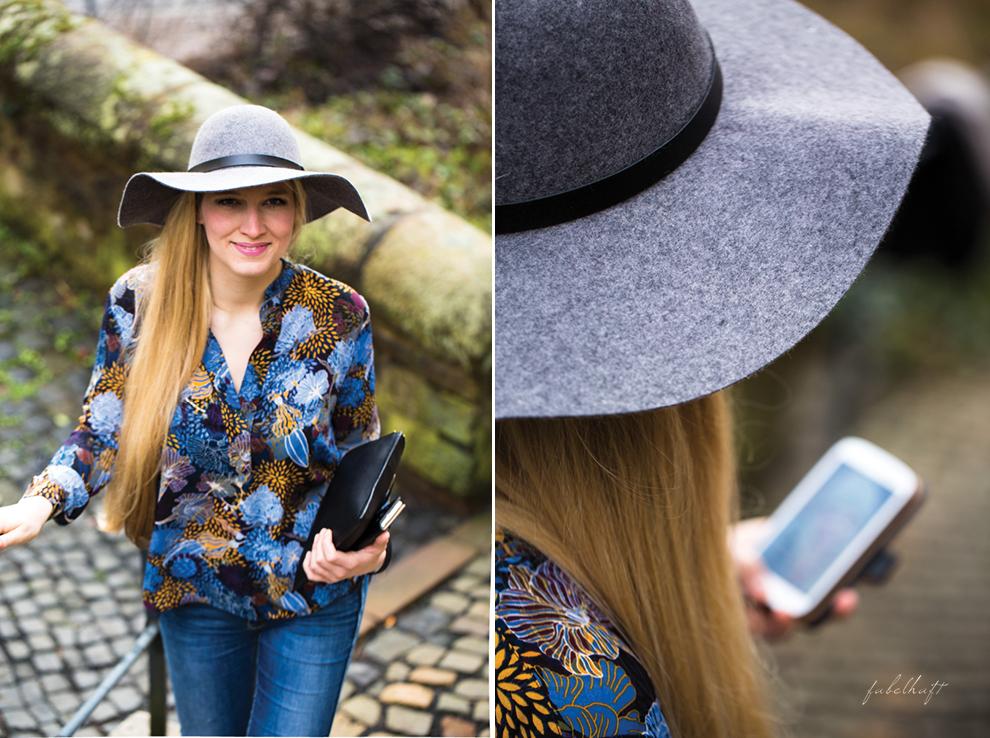 Wollhut Frühlingsoutfit Osteroutfit Blue Blau Blond Schlapphut Howtoware