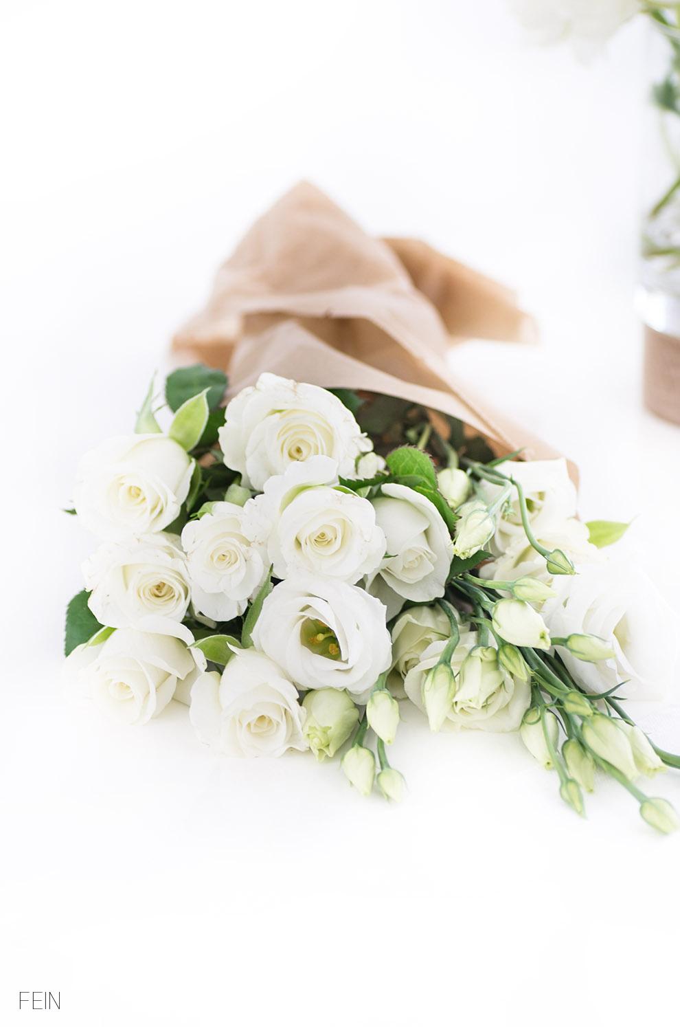 Design weiße Rosen