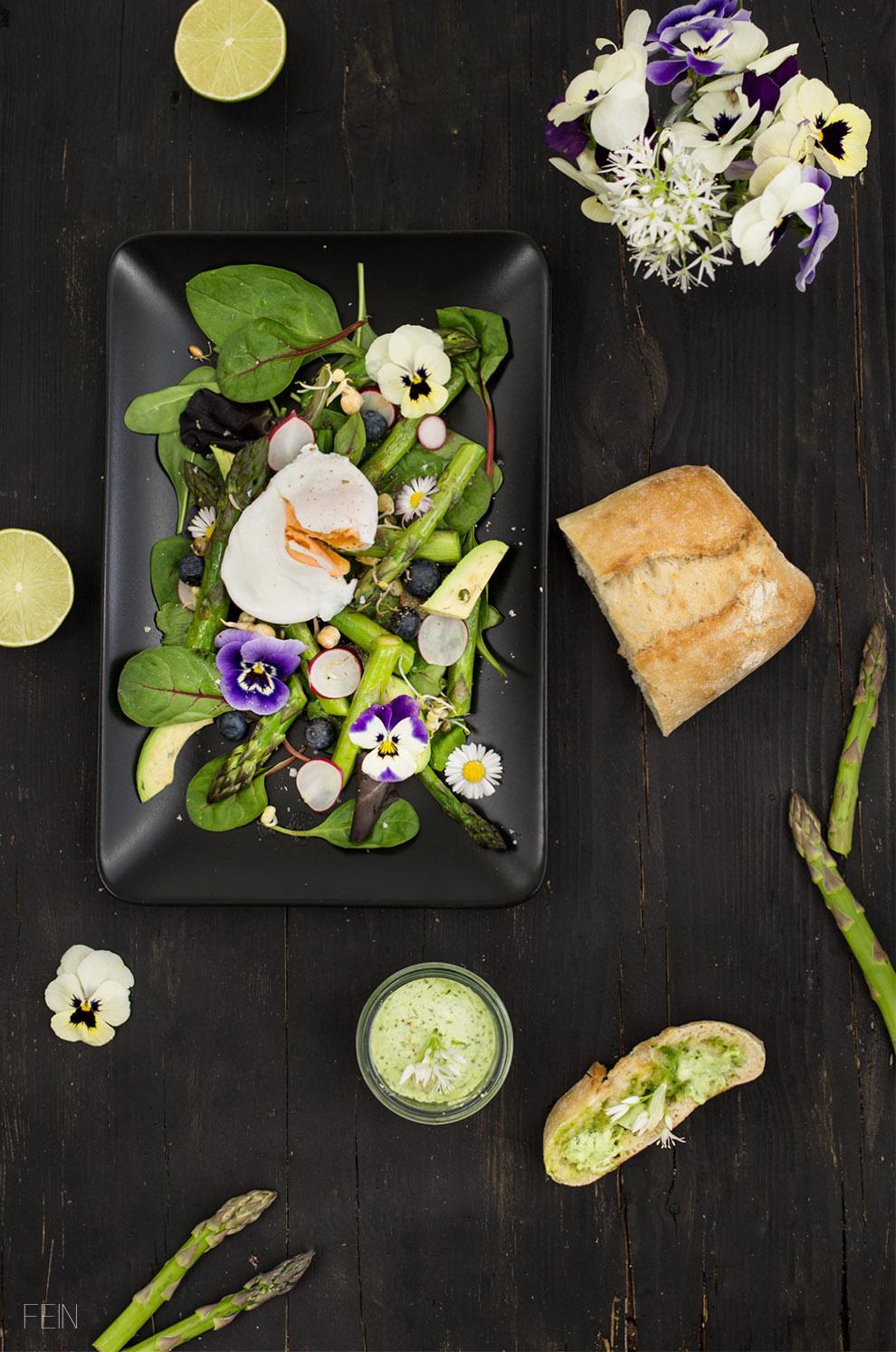 Frühlingssalat grüner Spargel Ei2