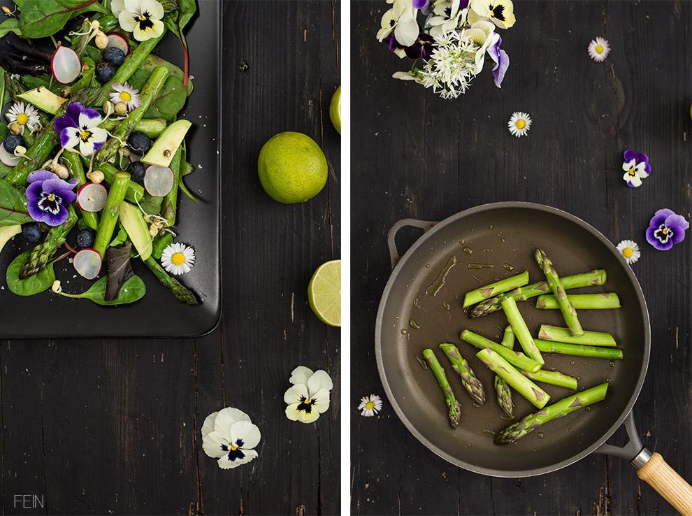 Frühlingssalat grüner Spargel2