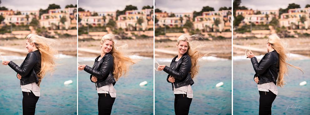 mallorca calla domingo beach holiday urlaub spring ocean meer Blond blogger lederjacke style fashion silver vans metallic sneaker slipper springoutfit spanien 5