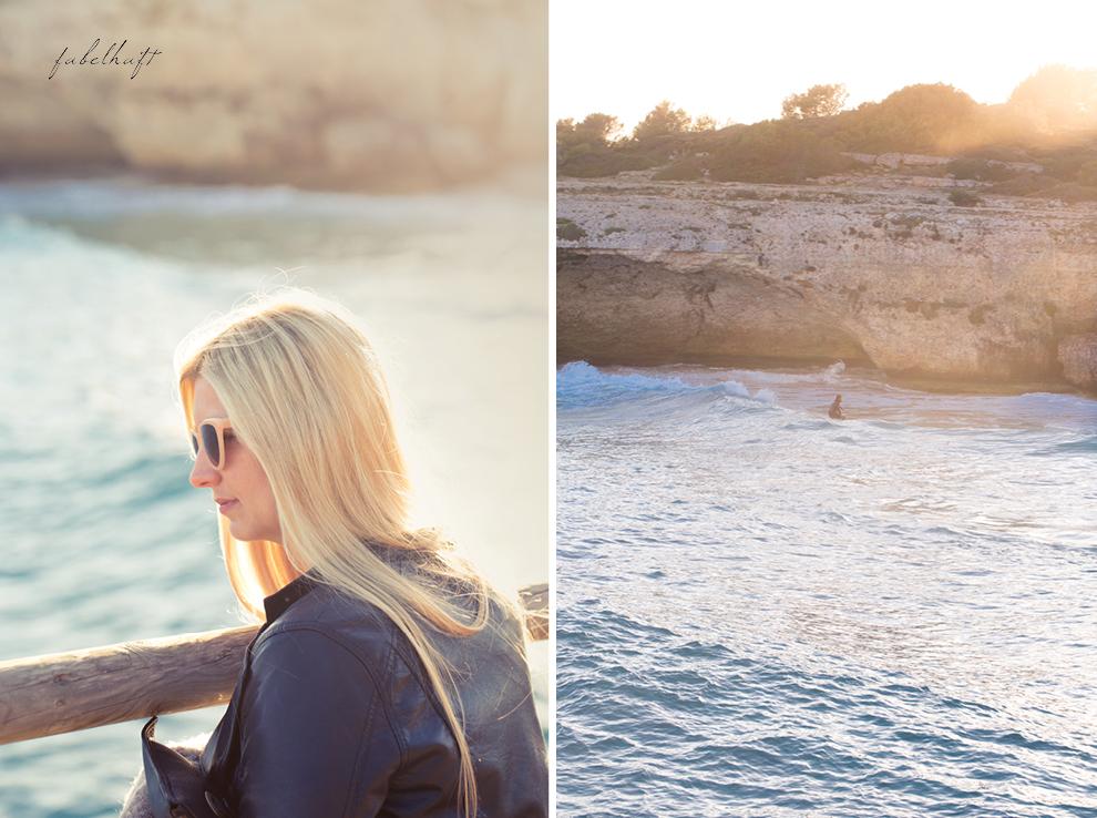 surfer mallorca calla domingo waves welles beach holiday urlaub spring ocean meer Blond blogger lederjacke style fashion springoutfit spanien 2