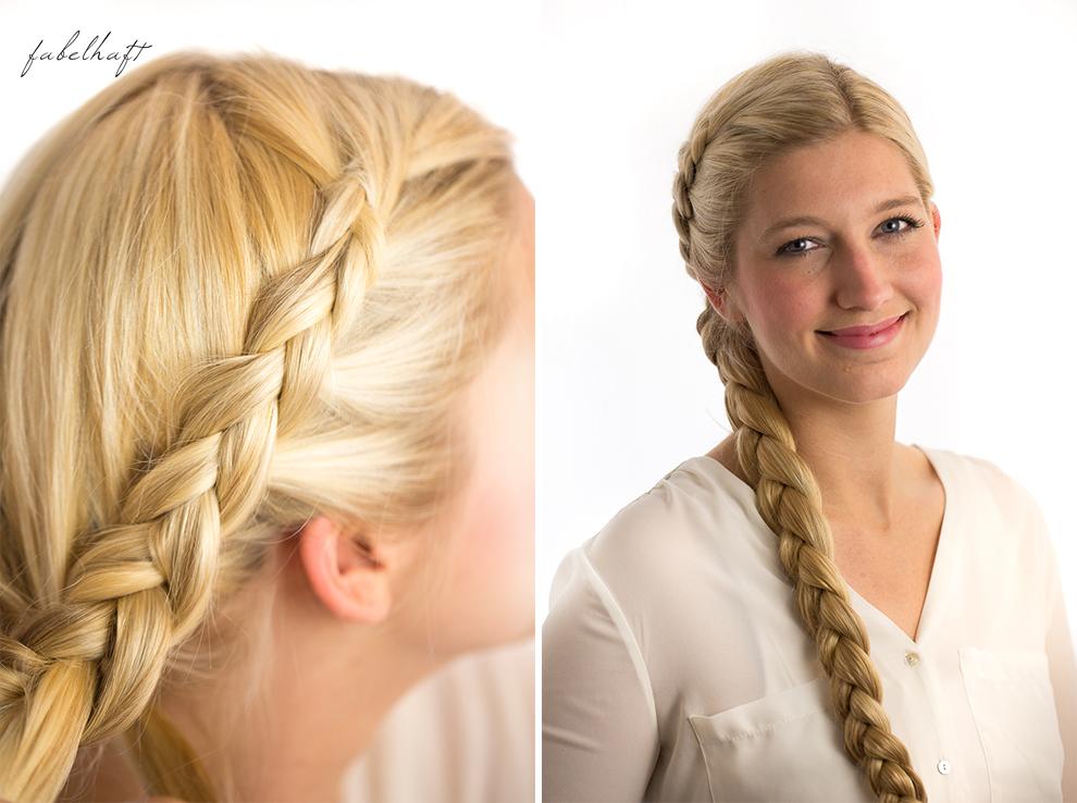 Basler Haarkosmetik langes Haar Blond Tutorial Frisuren Urban Hairstyle Messy Bun Loose Waves Dutch Crown Braid 13