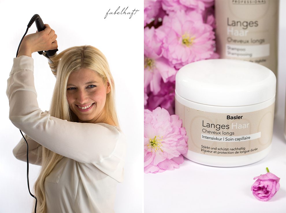 Basler Haarkosmetik langes Haar Blond Tutorial Frisuren Urban Hairstyle Messy Bun Loose Waves Dutch Crown Braid 18