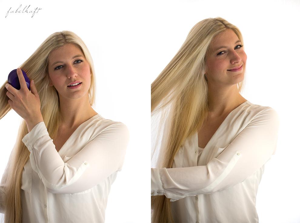 Basler Haarkosmetik langes Haar Blond Tutorial Frisuren Urban Hairstyle Messy Bun Loose Waves Dutch Crown Braid 2