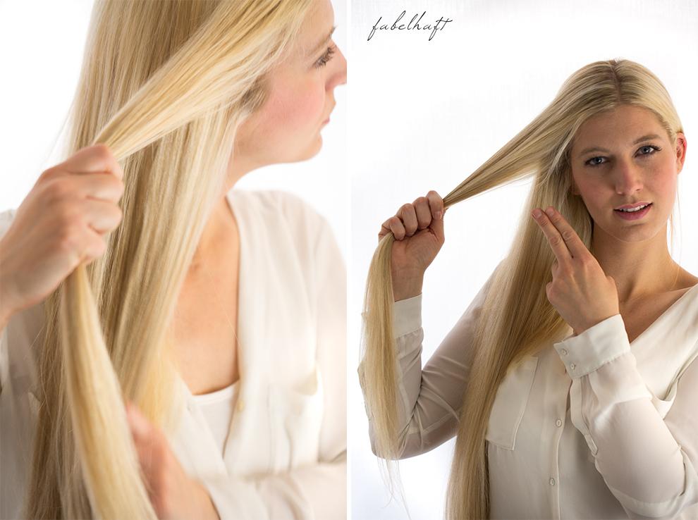 Basler Haarkosmetik langes Haar Blond Tutorial Frisuren Urban Hairstyle Messy Bun Loose Waves Dutch Crown Braid 3