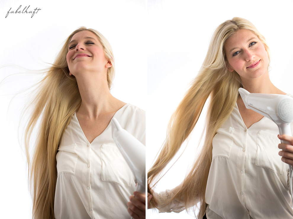 Basler Haarkosmetik langes Haar Blond Tutorial Frisuren Urban Hairstyle Messy Bun Loose Waves Dutch Crown Braid 5