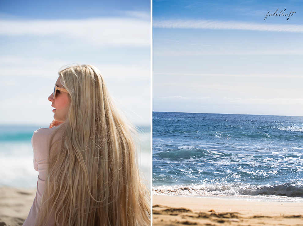 Mallorca spain travel balearen island blond beach fashion strandmode trend 2016 rosa Maxirock waves 1