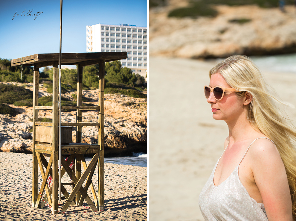 Mallorca spain travel balearen island blond beach fashion strandmode trend 2016 rosa Maxirock waves 2