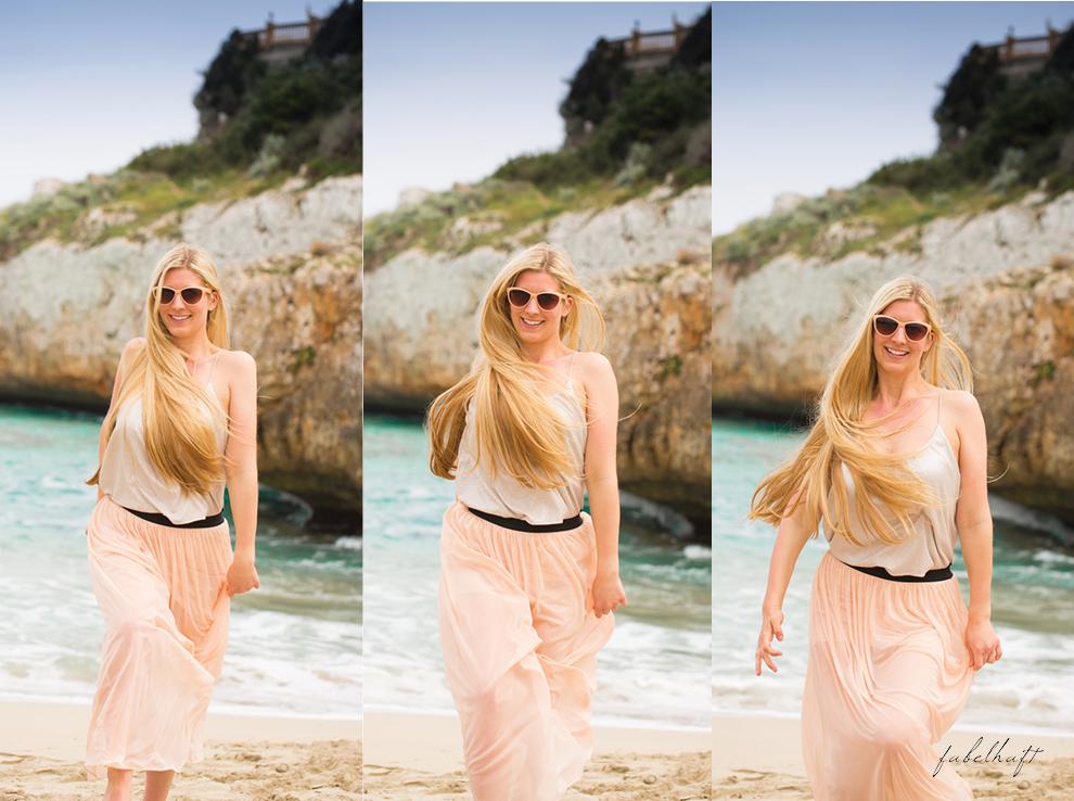 Mallorca spain travel balearen island blond beach fashion strandmode trend 2016 rosa Maxirock waves 6