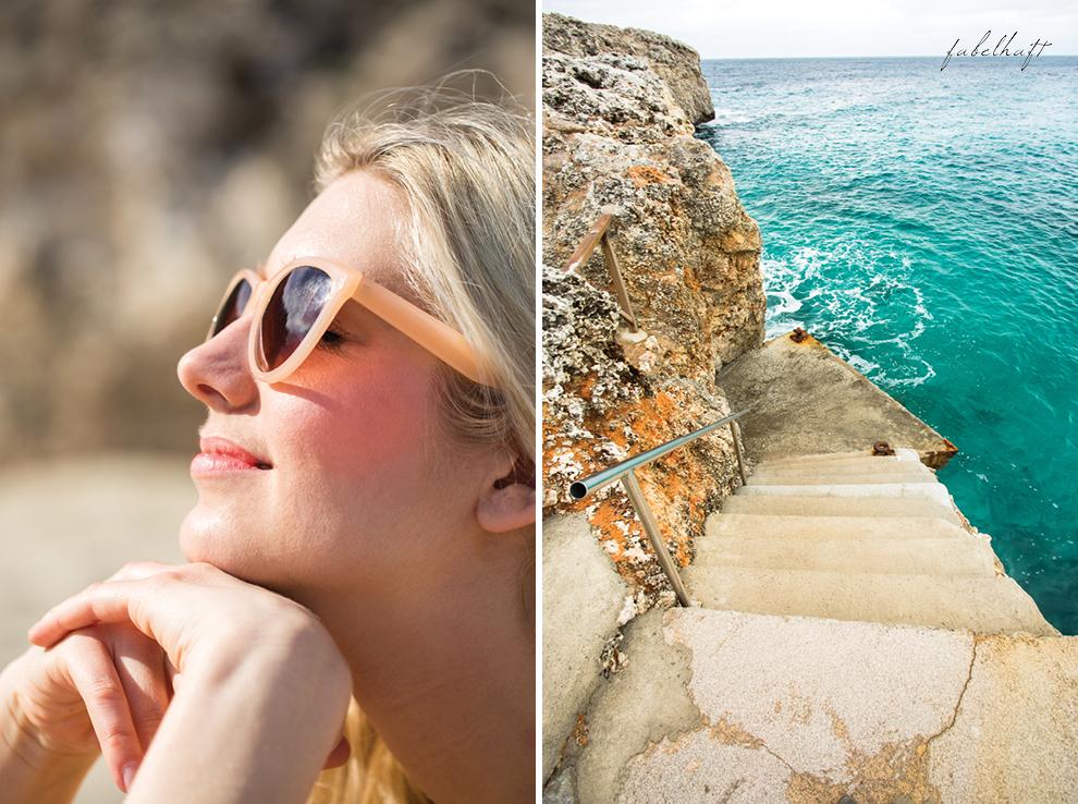 Mallorca spain travel balearen island blond beach fashion strandmode trend 2016 rosa Maxirock waves 7