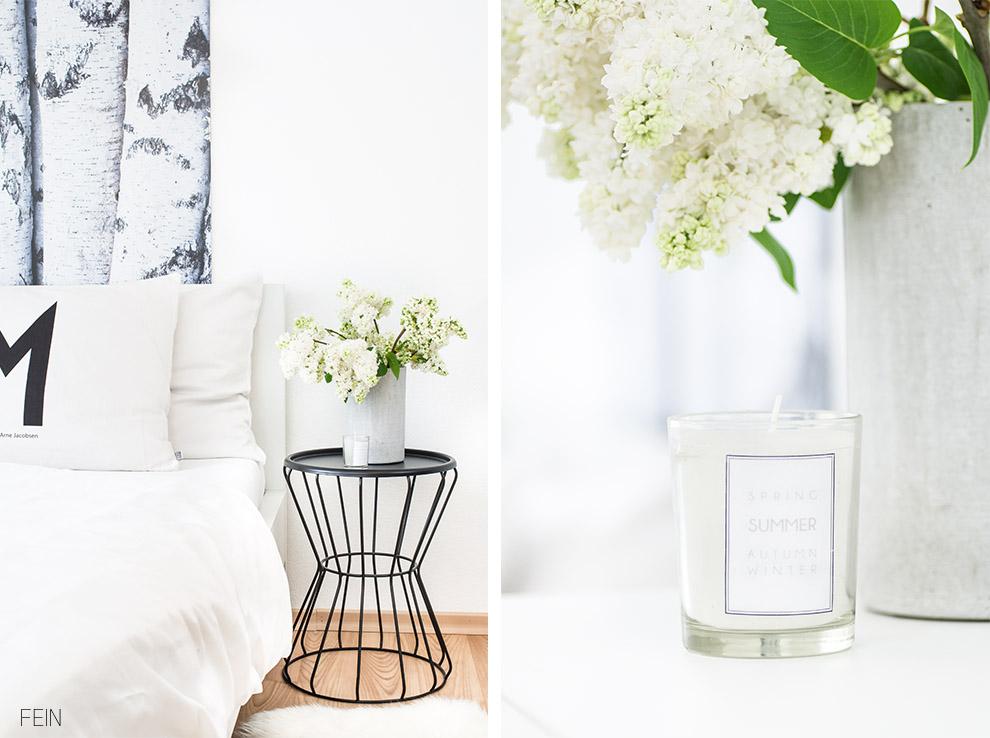 Schlafzimmer DIY Kerzen