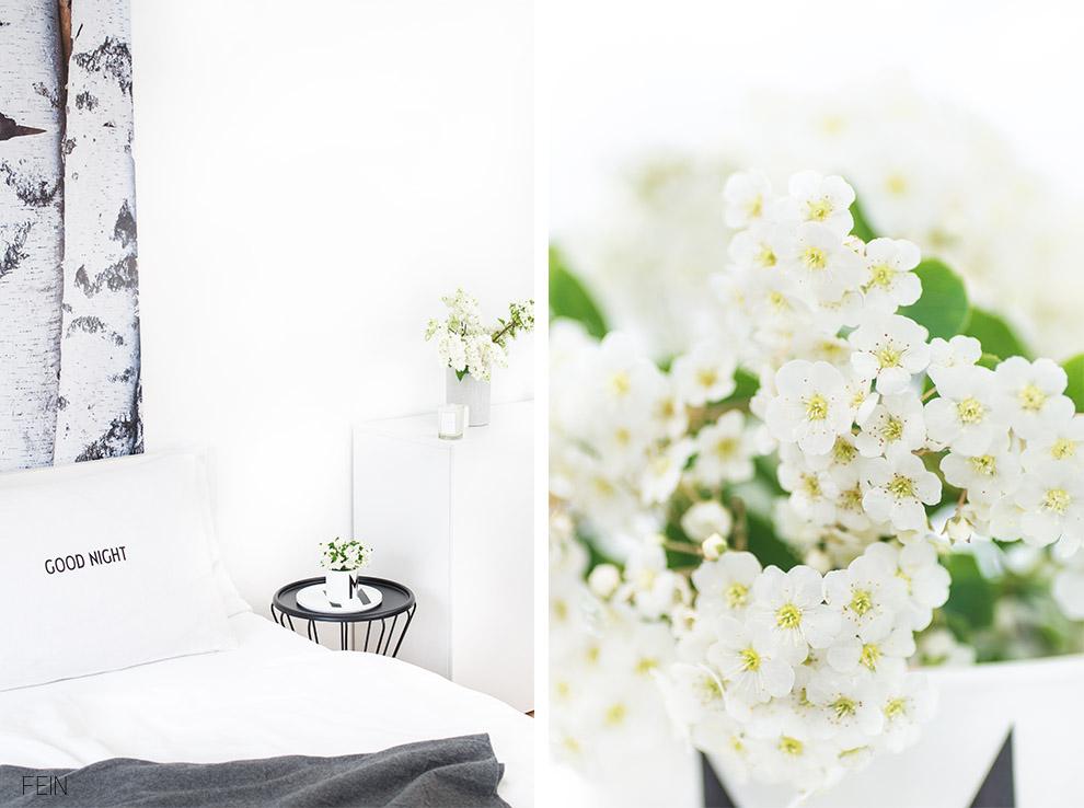 Schlafzimmer scandi weiß