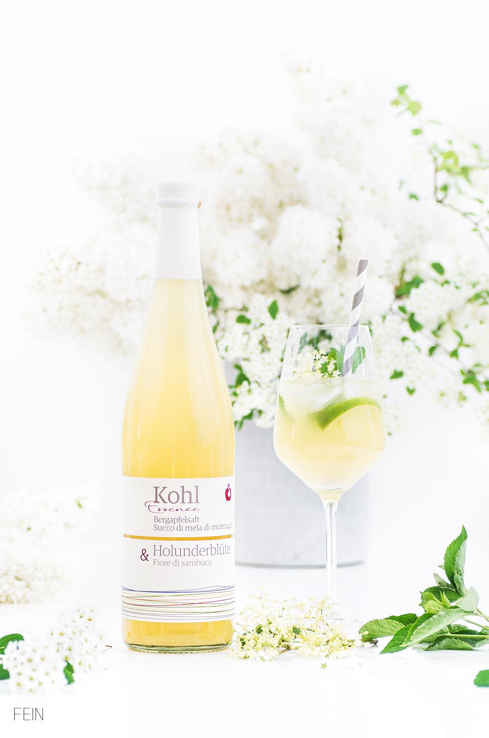 Sommerdrink Kohl Apfelsaft Cuvèes