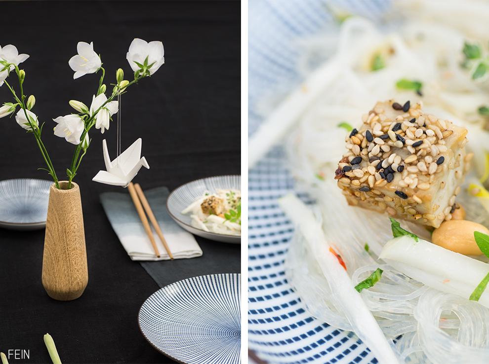 Asia Glasnudelsalat Tofu vegan