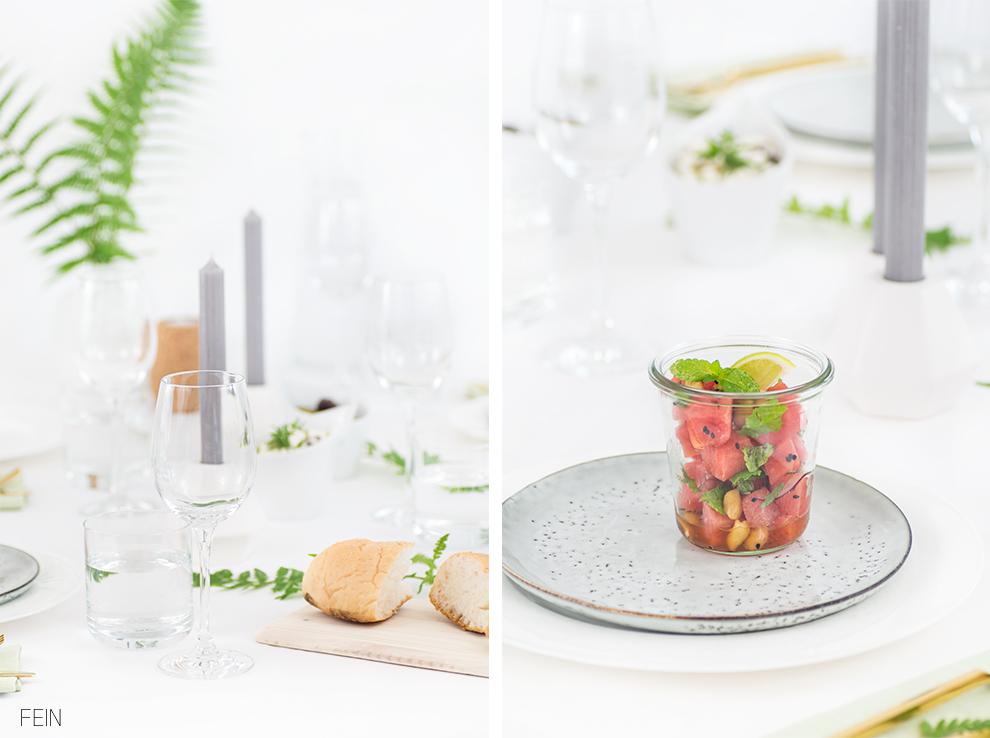 Dinner Sommer Tischdeko