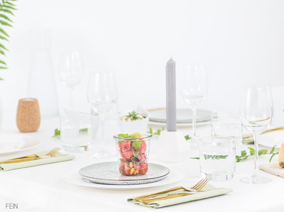 Dinner Tisch Sommer Stilherz