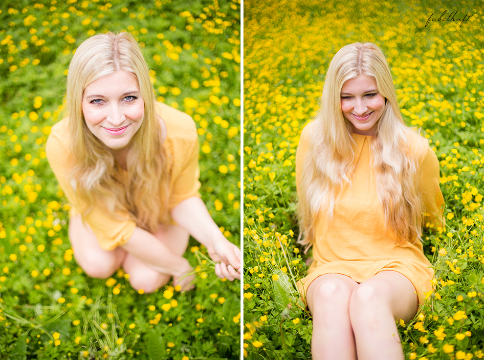 Living Nature Make-up Tutorial Frühlingsmakeup sommerlich gelb butterblumen fein und fabelhaft Eyeshadow Lipstick yellow dress kleid 9