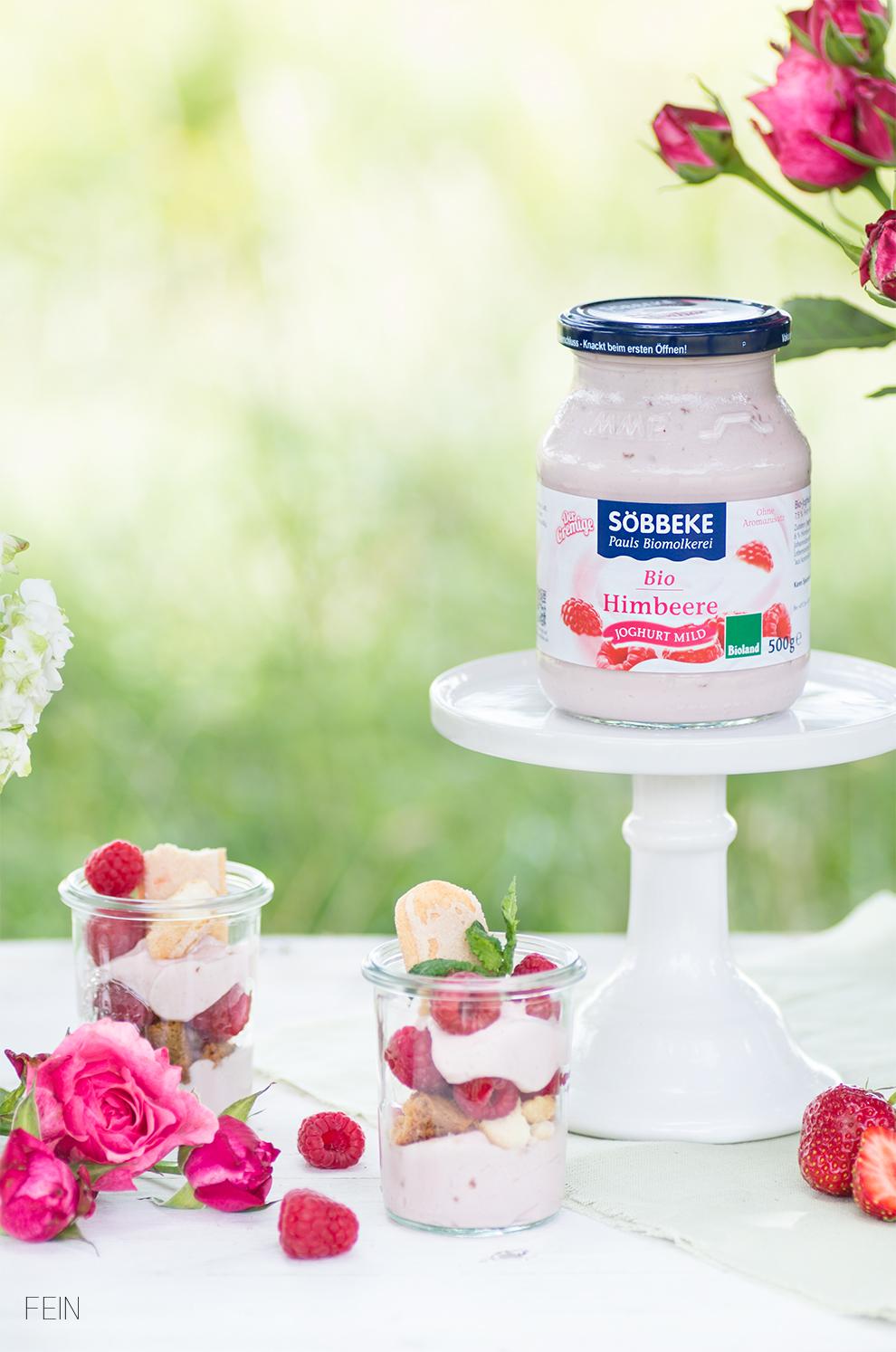 Joghurt Bio Molkerei Söbbeke Himbeere