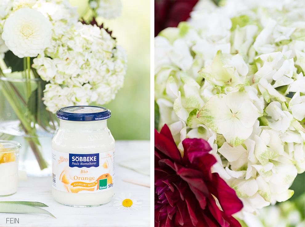 Joghurt Sommer Hortensie