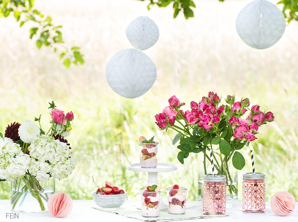 Joghurt Sommer Sweet Table
