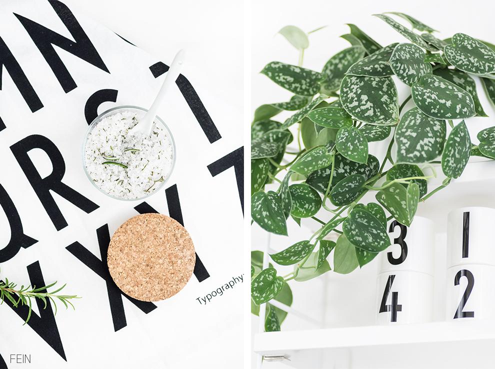 Küche Design letters Handtuch