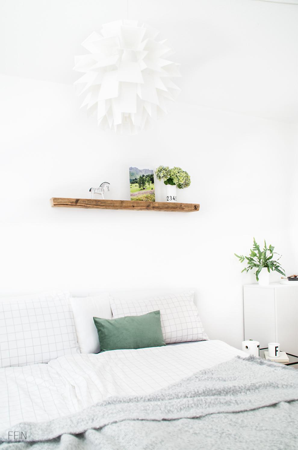 Umstyling Schlafzimmer Weiß grün