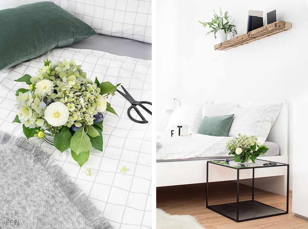 Umstyling Schlafzimmer schwarz weiß