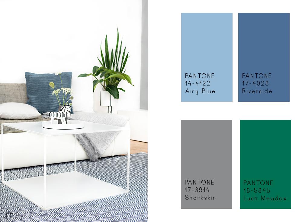Zuhause Blau grün Pantone Herbst Winter 16