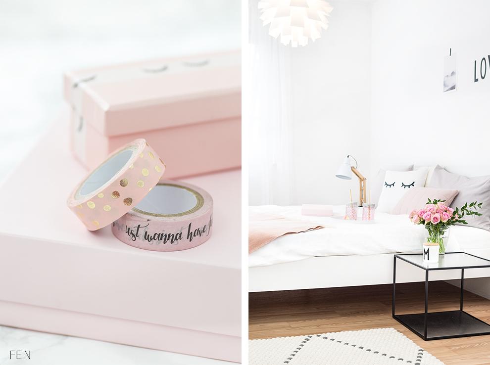 rosa accessoires schlafzimmer fein und fabelhaft. Black Bedroom Furniture Sets. Home Design Ideas