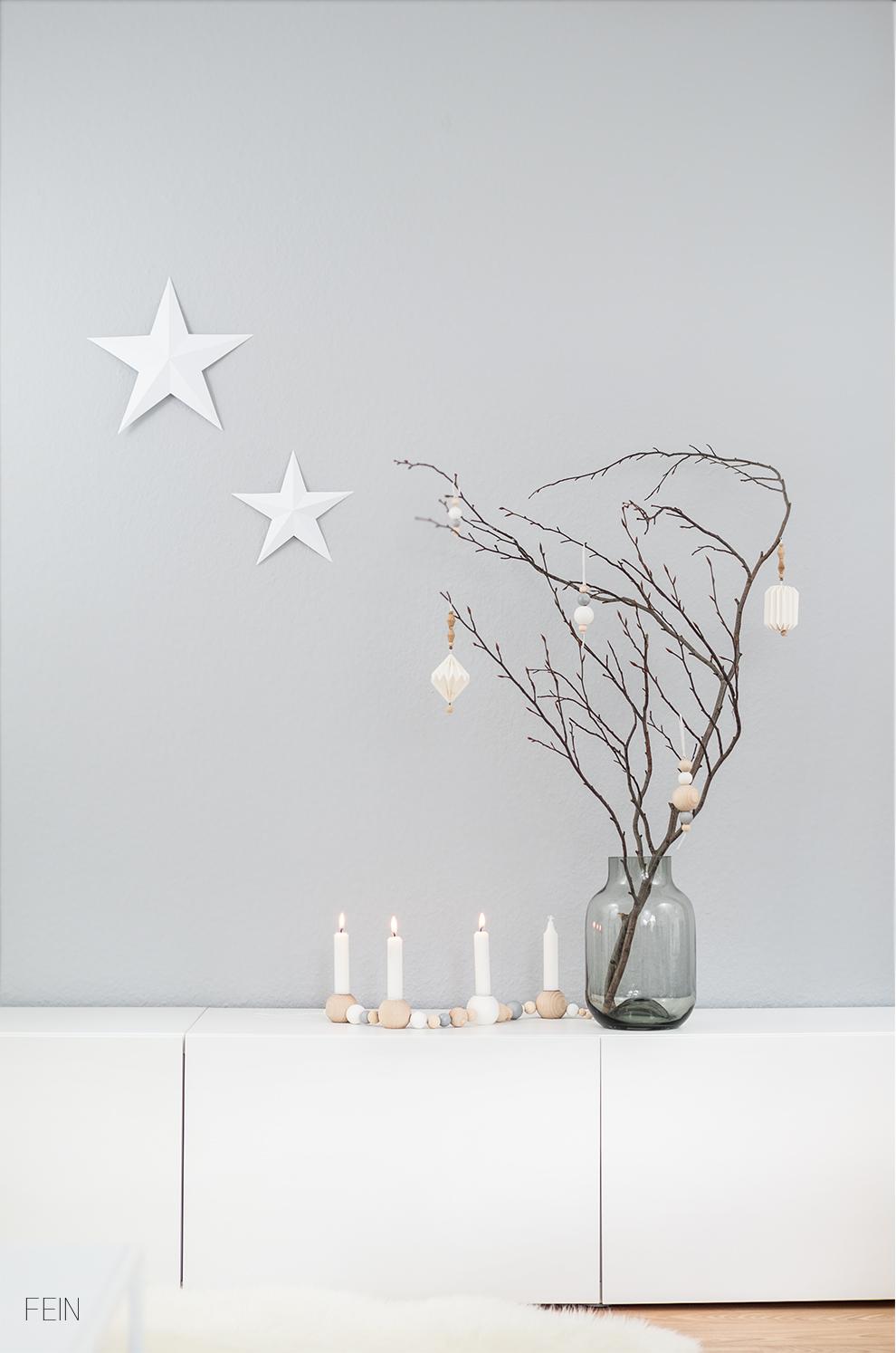 winterlich wei e weihnachtsdeko fein und fabelhaft. Black Bedroom Furniture Sets. Home Design Ideas