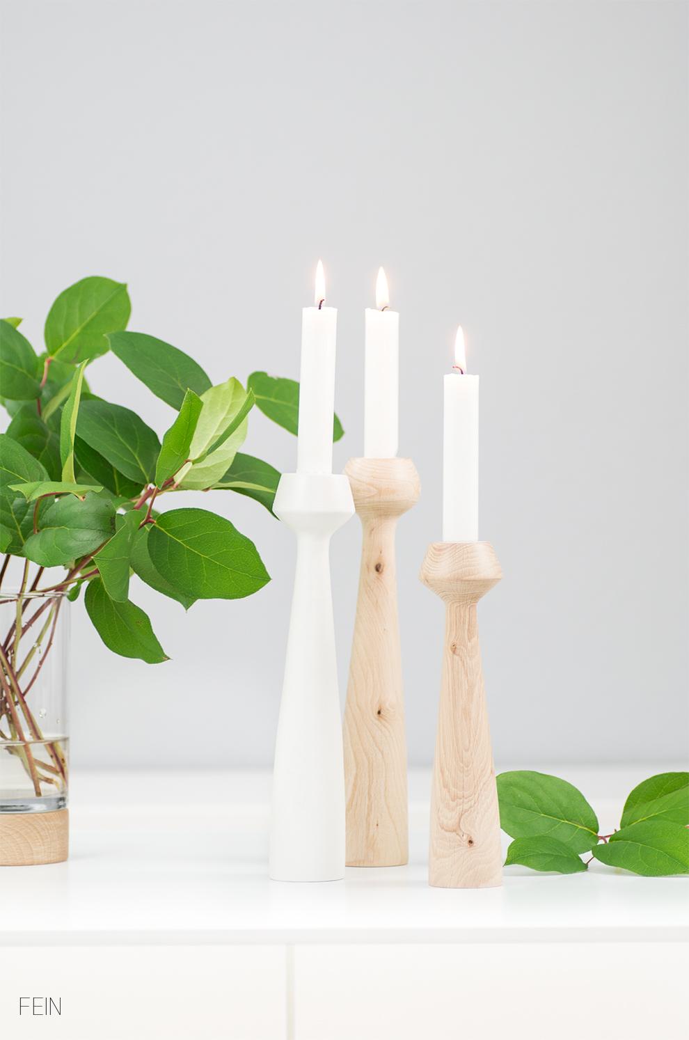 Kerzen Holz Handgemacht