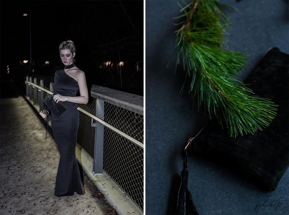 Netzsieger curated shopping silvester outfit kleid schwarz abendoutfit Gala Ballklein blogger Clutch wildleder blond 4