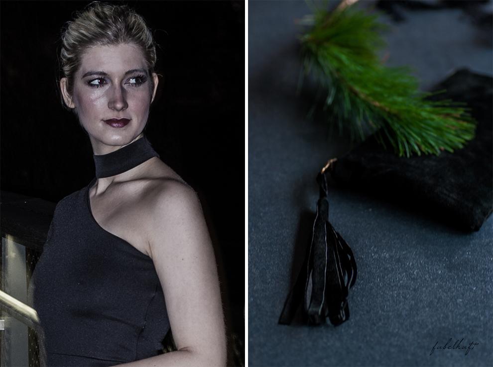 Netzsieger curated shopping silvester outfit kleid schwarz abendoutfit Gala Ballklein blogger Clutch wildleder blond