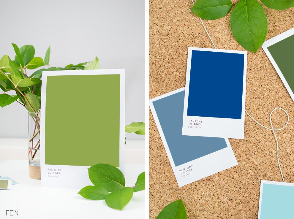Pantone Farbe des Jahres Greenery