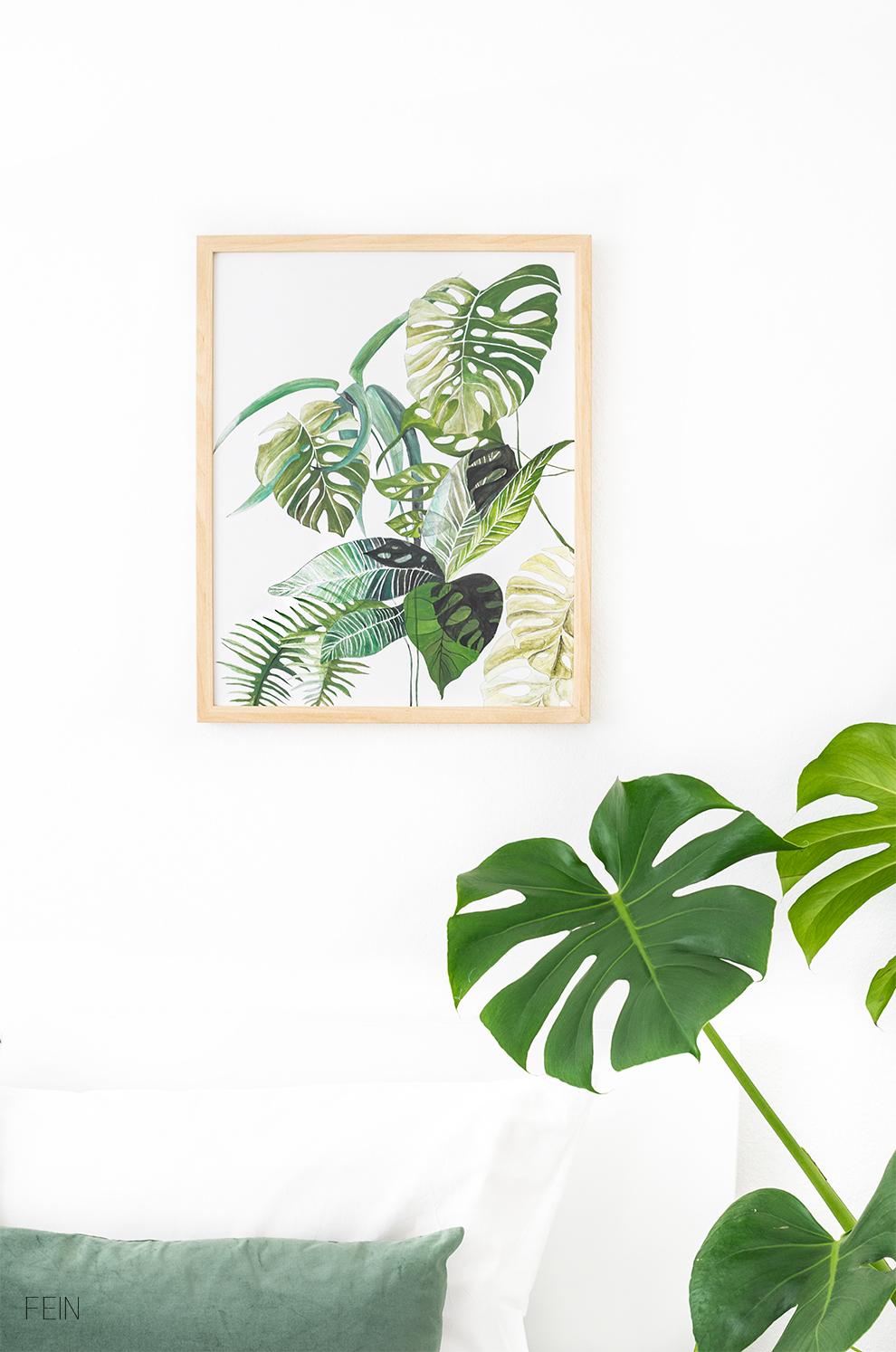 Greenery Grün Pflanzen Print DIY