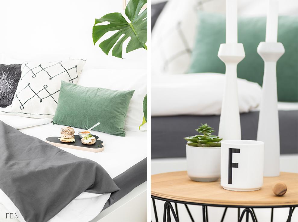 Grün, grüner, Greenery – Schlafzimmer Styling - Fein und Fabelhaft
